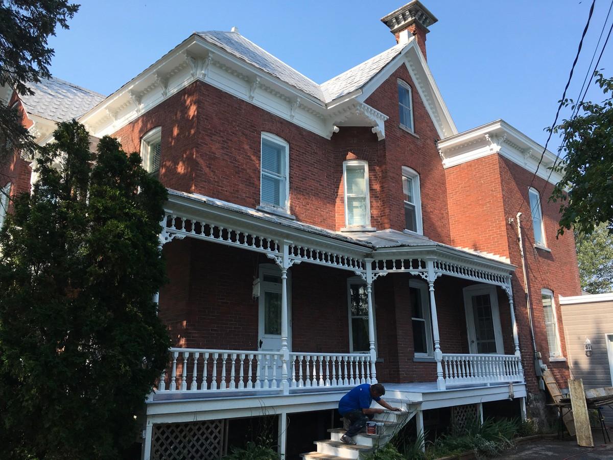 Projet : peinture balcon et rampe
