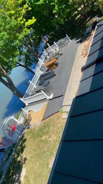 Projet de peinture de patio