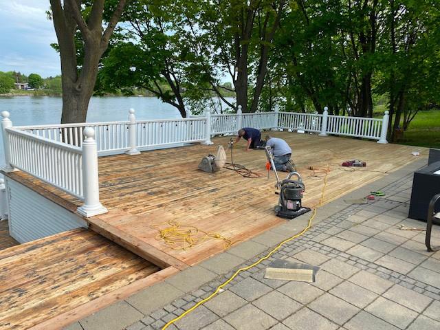 Projet de peinture de terrasse